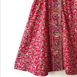 Liz Claiborne Dresses - Vintage Liz Claiborne Red Floral Dress Cotton